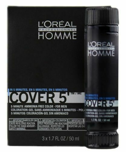 L'Oreal Homme Cover 5 Ammonia Free Hair Colour Gel 3 x 50ml  | eBay