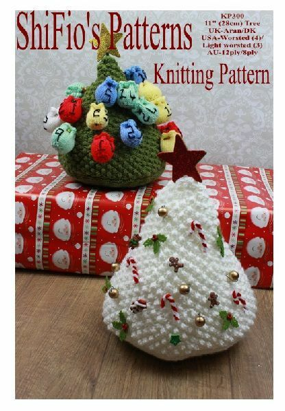 Knitting Pattern Christmas Advent Calendar : KNITTING PATTERN for CHRISTMAS TREE ADVENT CALENDAR #300 by ShiFios Patt...