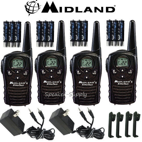 Mile High Water Talk: Midland Xtra Talk LXT118VP 4 Pack Set Two Way Radio Walkie