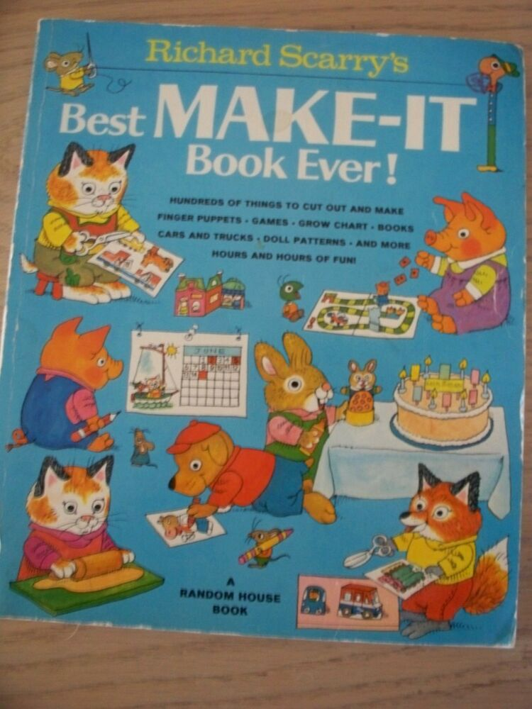 Vintage 1978 richard scarry 39 s best make it book ever kids for Richard scarry coloring pages