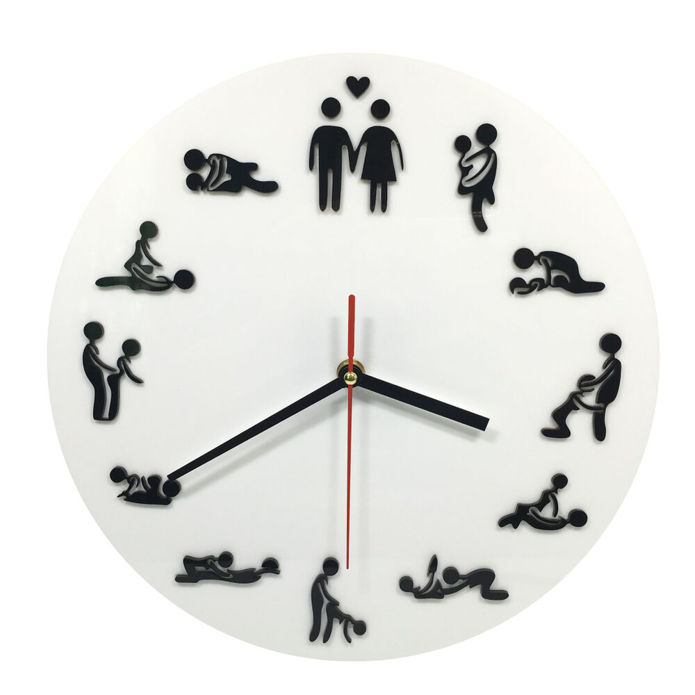 inch sexual position clock hours novelty adult only wall
