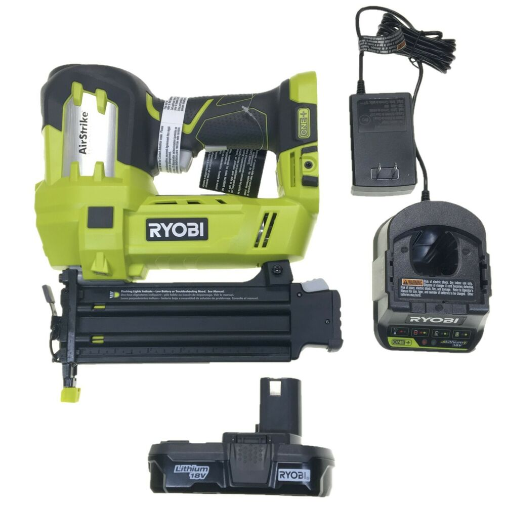ryobi one 18v volt air strike 5 8 2 cordless brad nailer. Black Bedroom Furniture Sets. Home Design Ideas