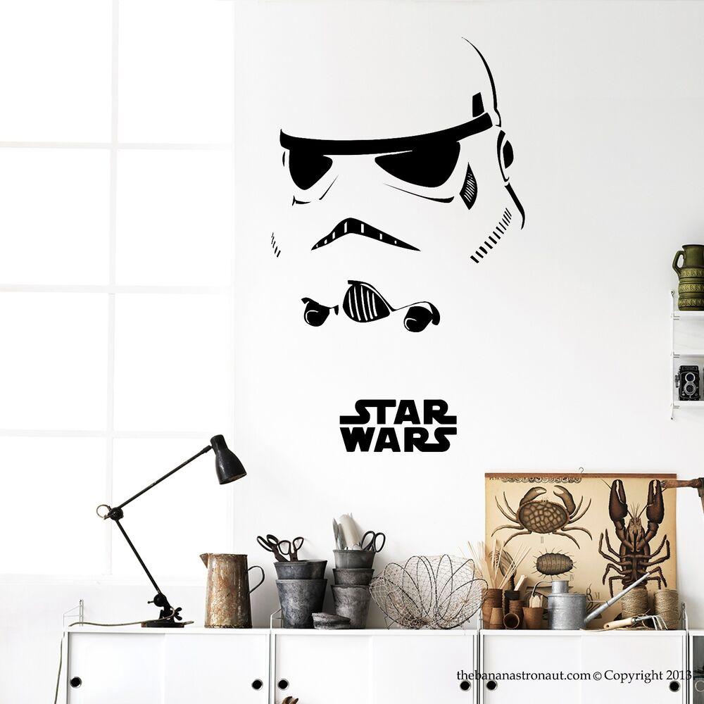 star wars wall decal stickers decor modern easy removable vinyl stickers ebay. Black Bedroom Furniture Sets. Home Design Ideas