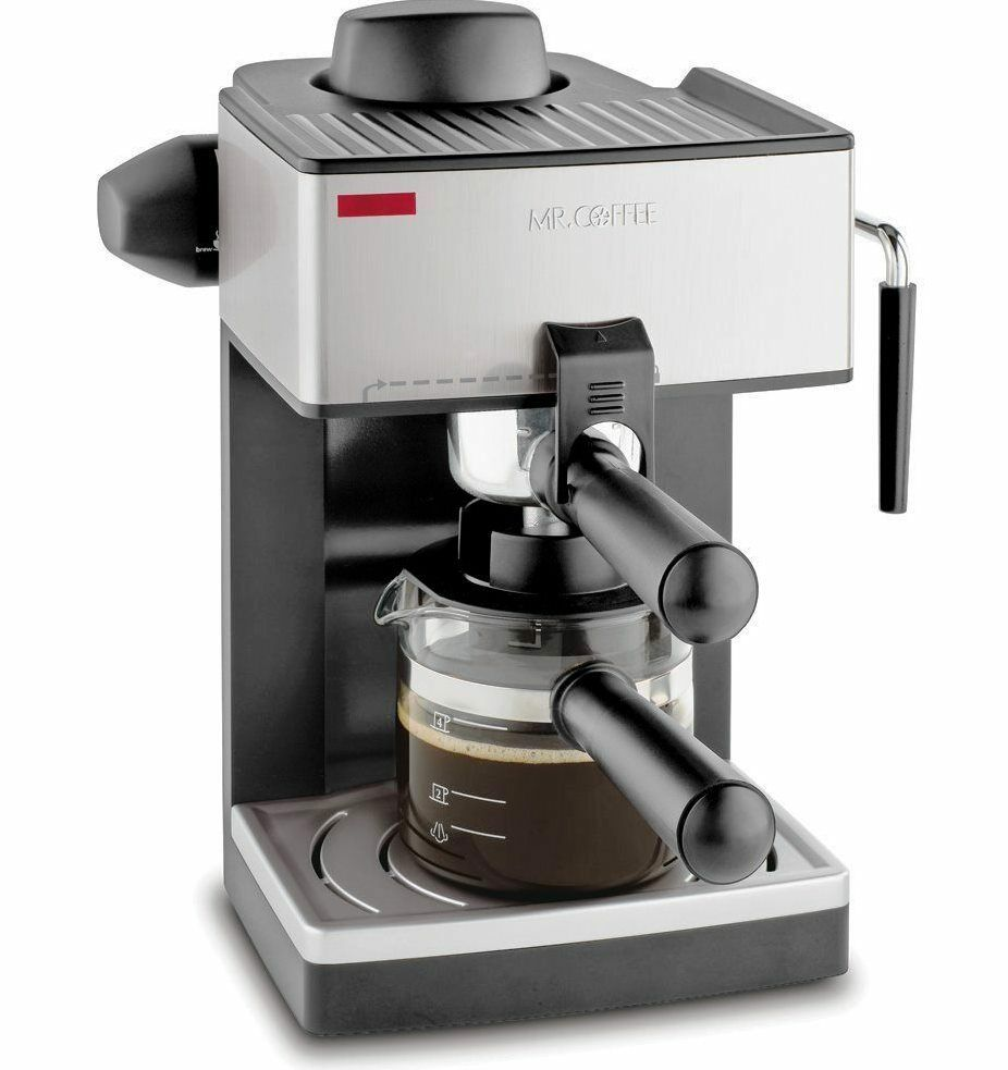new mr coffee steam espresso machine with frothing cappuccino latte nozzle cafe ebay. Black Bedroom Furniture Sets. Home Design Ideas