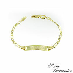 Kyпить 18k Gold Filled Figaro Link Childrens ID Bracelet Free Personalized Engraving на еВаy.соm
