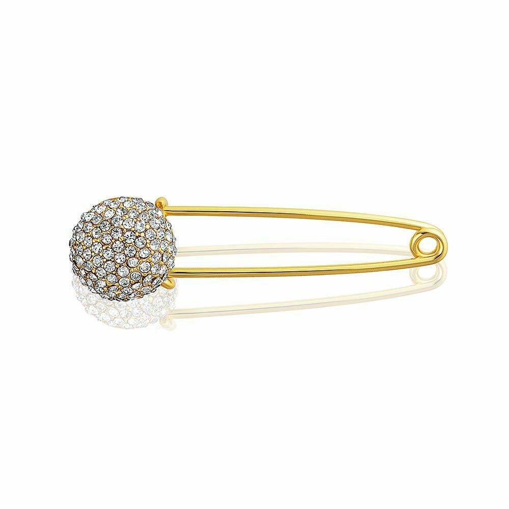 Bling Jewelry Crystal Disco Ball Holiday Safety Pin Brooch ...