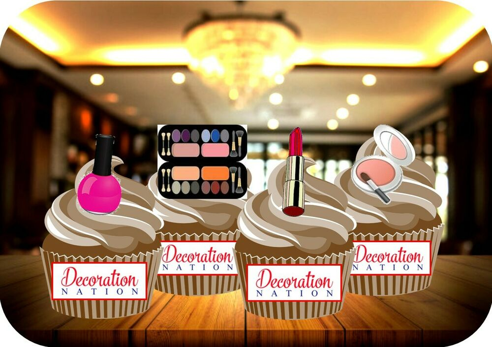 Novelty GLAMOUROUS MAKEUP MIX 12 STANDUPS Edible Cake ...