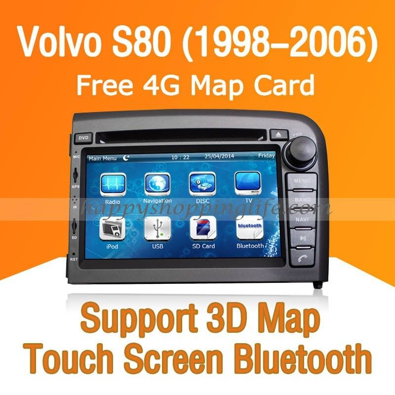 6 5 Car In Dash Touch Screen Monitor For Volvo Xc90: Car Dash DVD GPS Navigation Radio Stereo Bluetooth For