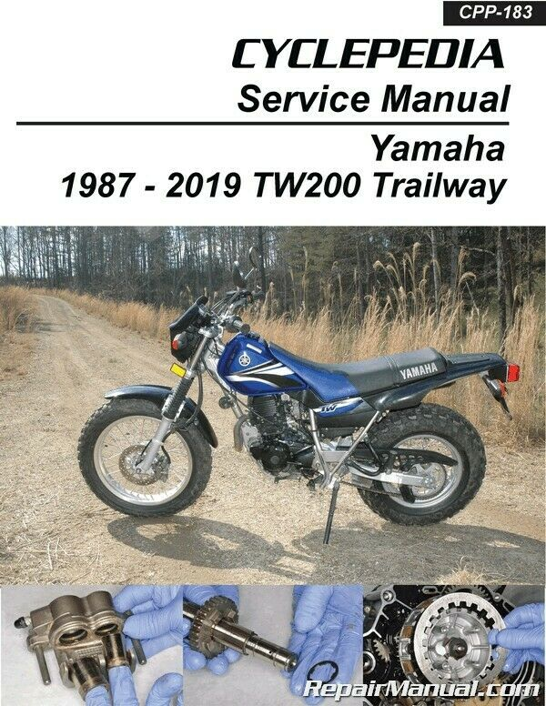 yamaha tw200 trailway cyclepedia motorcycle manual printed ebay rh ebay com yamaha tw200 owners manual yamaha tw 200 repair manual