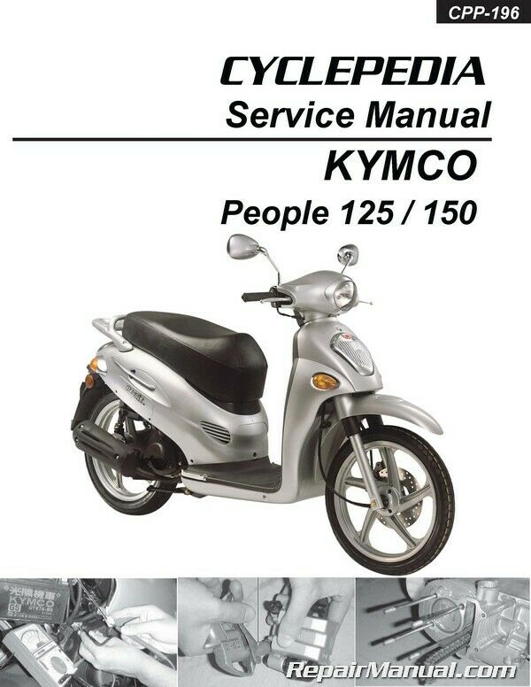 kymco people 125 150 cyclepedia printed scooter service. Black Bedroom Furniture Sets. Home Design Ideas