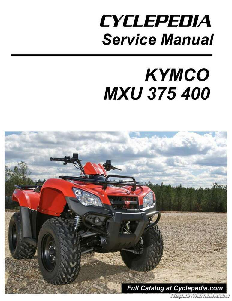 kymco mxu 375 400 atv service manual printed by cyclepedia. Black Bedroom Furniture Sets. Home Design Ideas