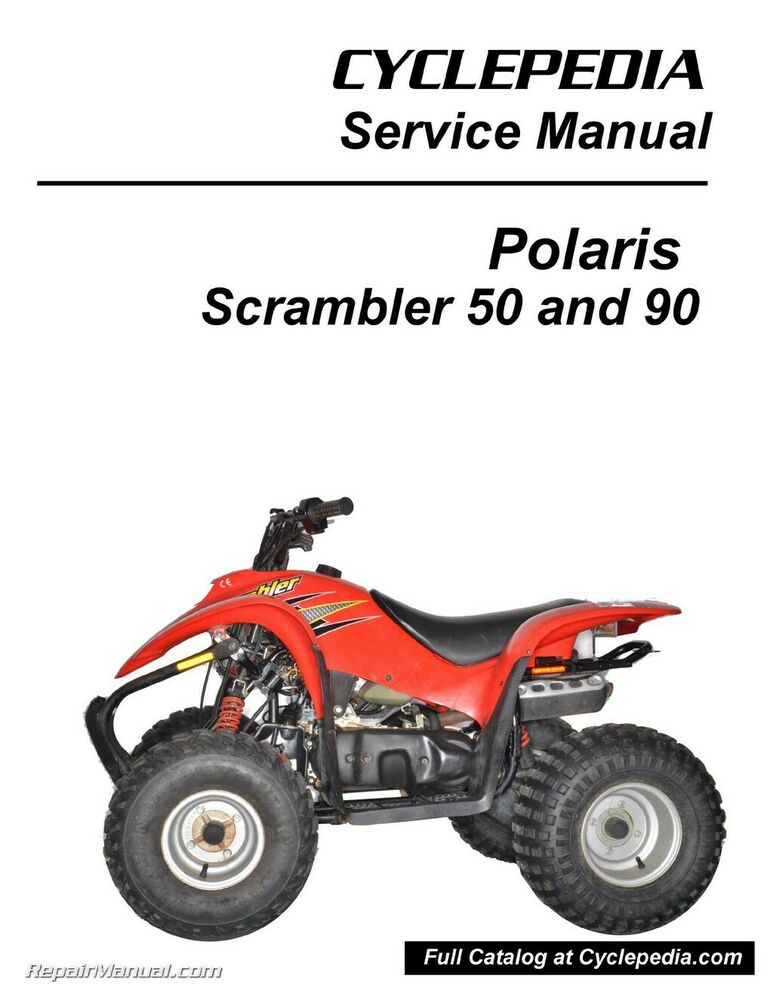 polaris 50cc 90cc scrambler atv print service manual by. Black Bedroom Furniture Sets. Home Design Ideas
