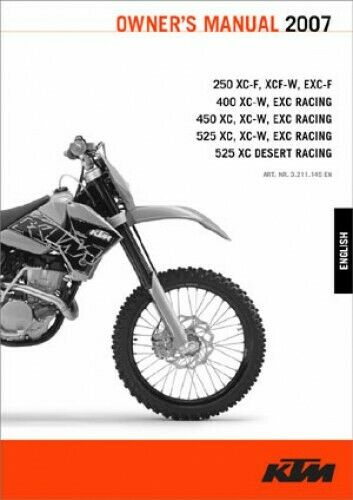 Ktm  Exc F Owners Manual