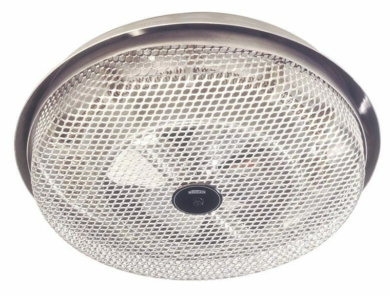 New broan ceiling mount heater built in fan 1250w bathroom - Bathroom ceiling light with heater ...