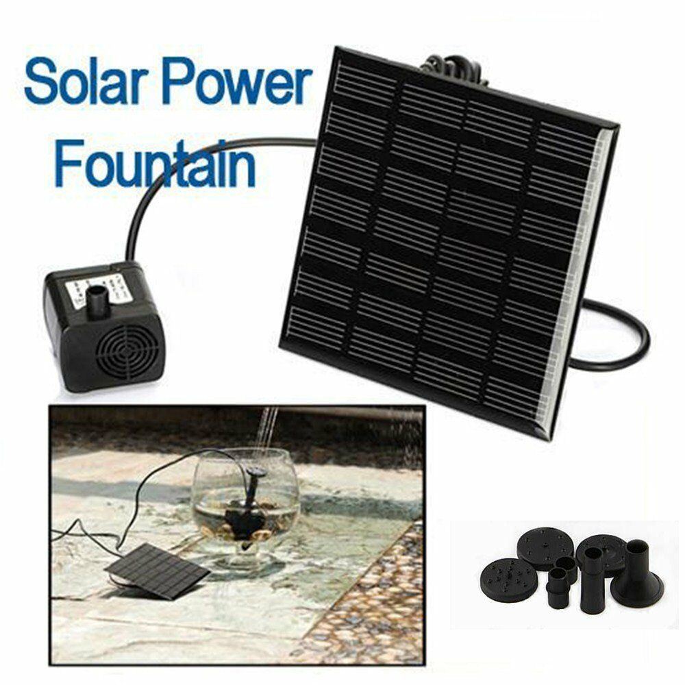 Solar Panel Power Submersible Fountain Pond Garden Pool Watering Water Pump Kit Ebay