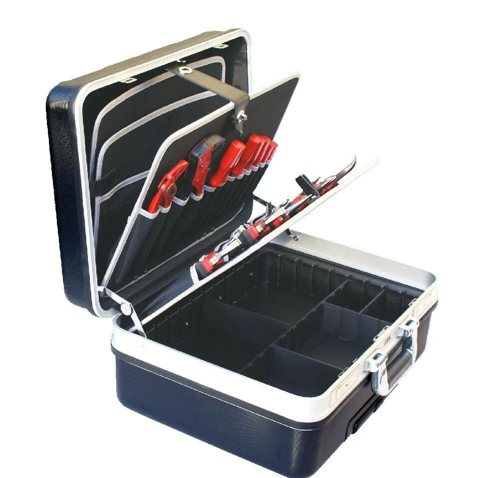 abs werkzeug hartschalen elektriker trolley koffer kiste kasten tool box 61019 a ebay. Black Bedroom Furniture Sets. Home Design Ideas