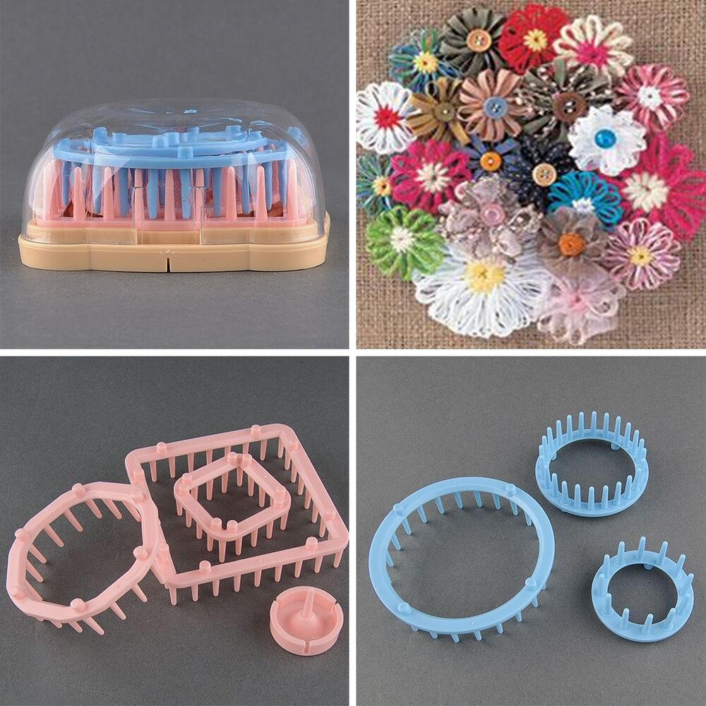 Flower Knitting Loom Knit Daisy Flower Pattern Maker Tool ...