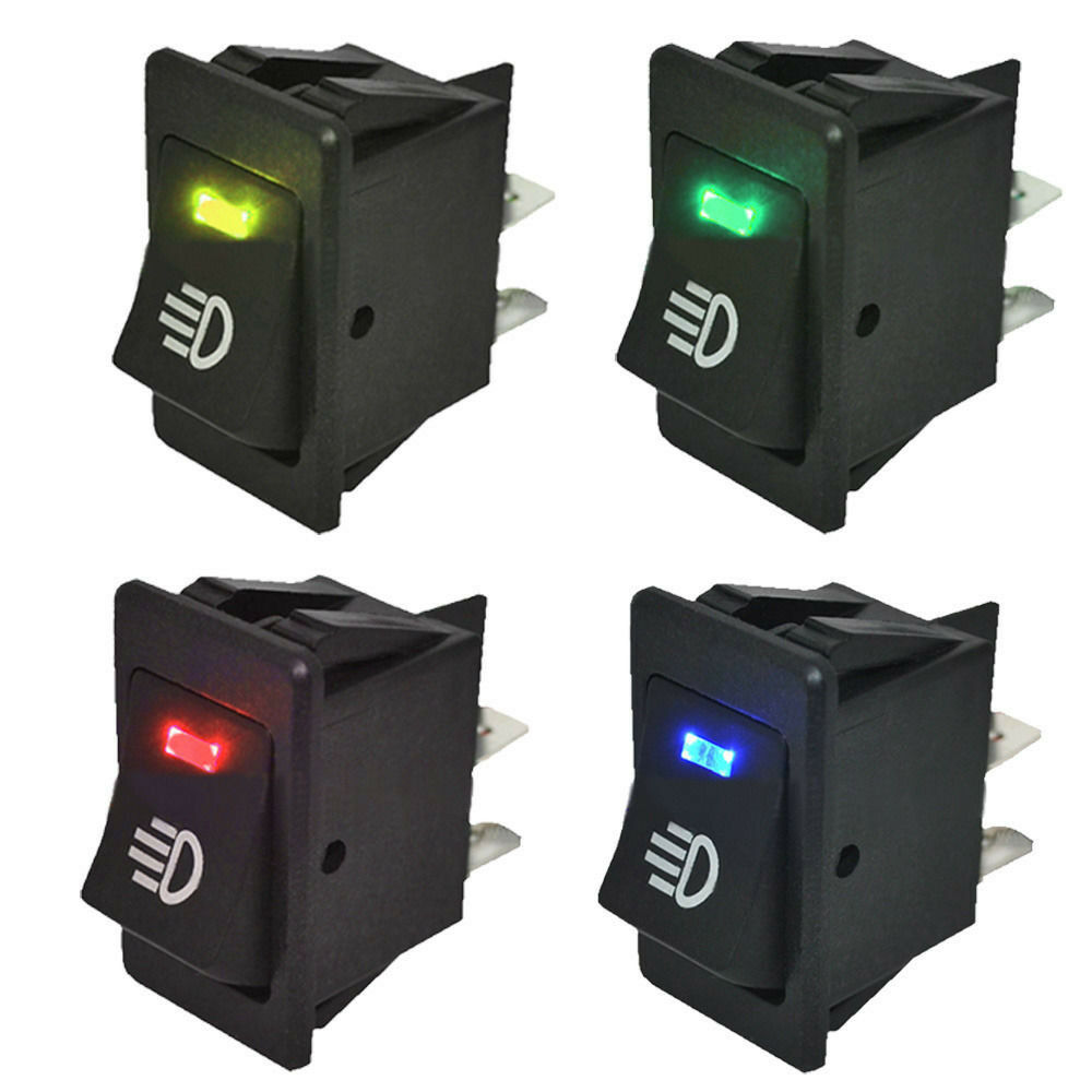 4pcs 12v 35a universal car fog light rocker switch led