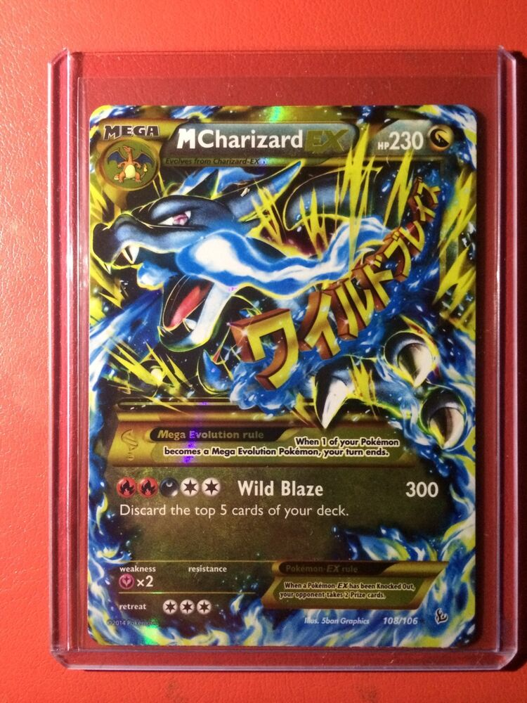 Pokemon card -Secret Rare M CHARIZARD EX Mega X Edition ...