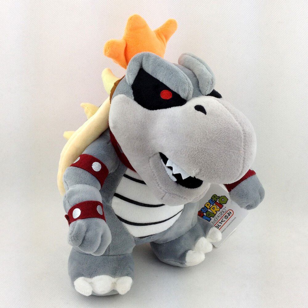 Dry Bowser Super Mario Bros Bones Koopa Troopa Soft Plush ...