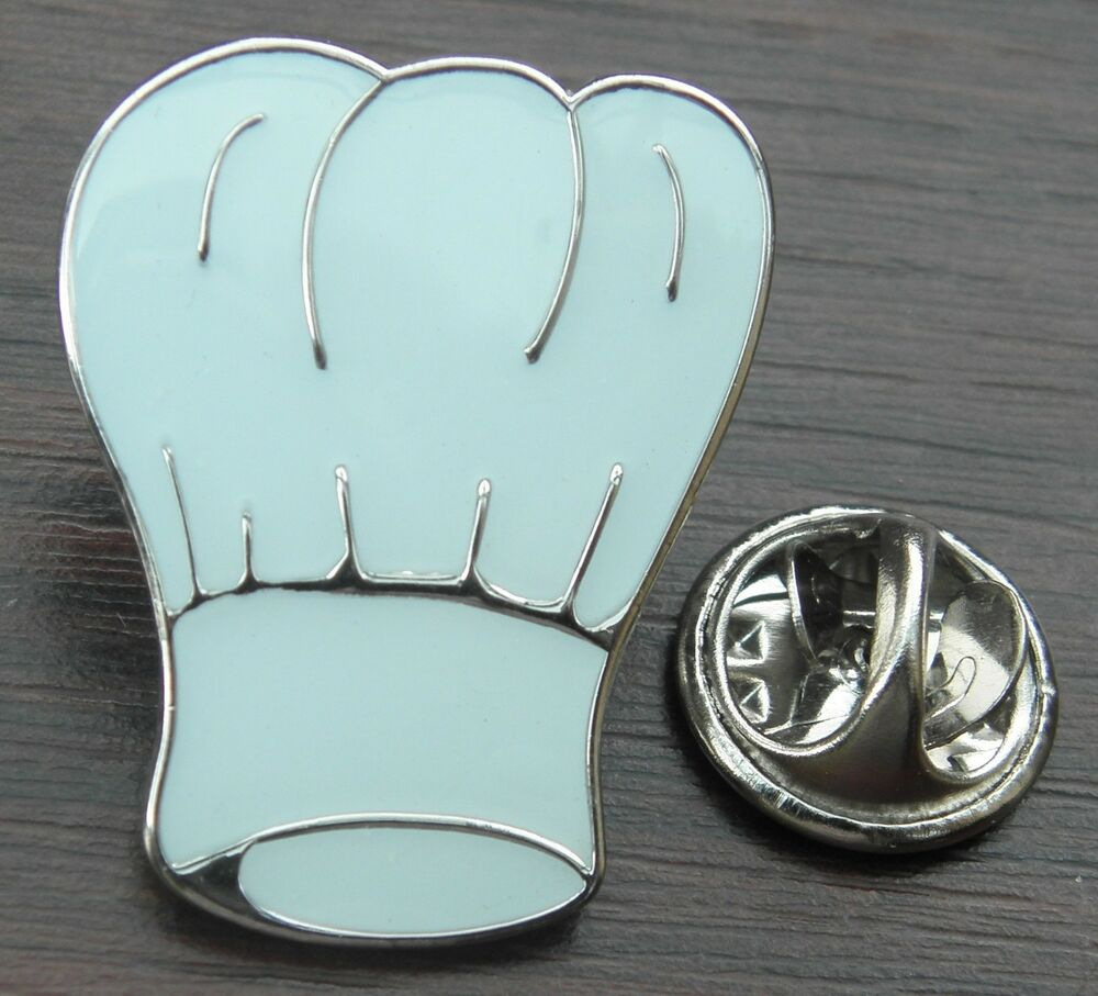 chef hat white toque lapel hat tie cap pin badge cook gift souvenir brooch ebay. Black Bedroom Furniture Sets. Home Design Ideas