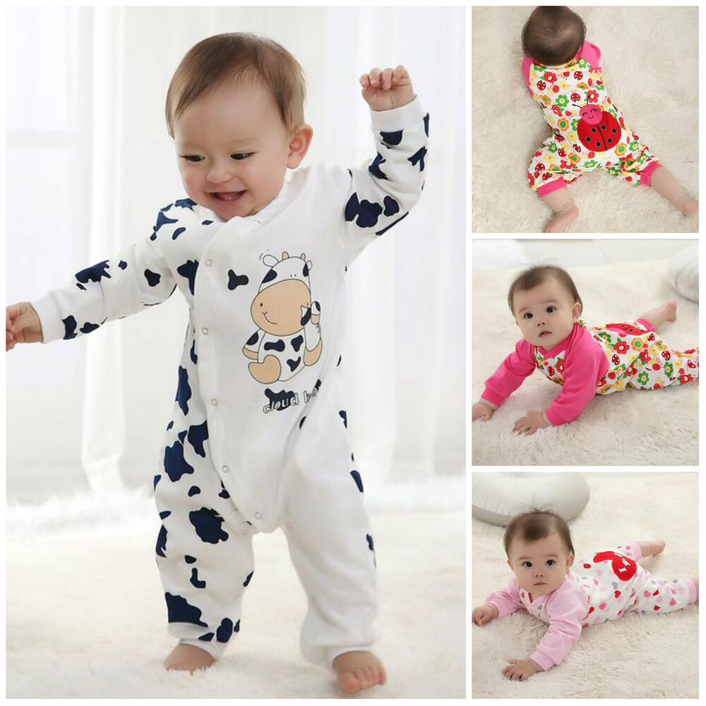 New Cute Newborn girl boy clothes Baby clothes Infant ...
