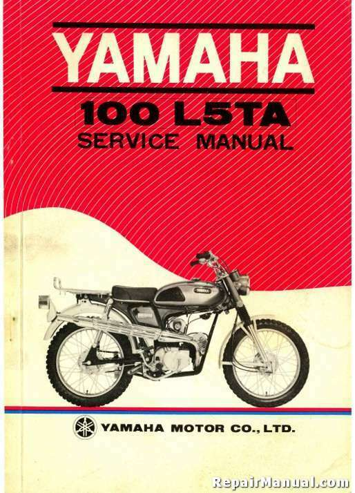 1970 Yamaha L5ta Trailmaster 100 Motorcycle Service Manual