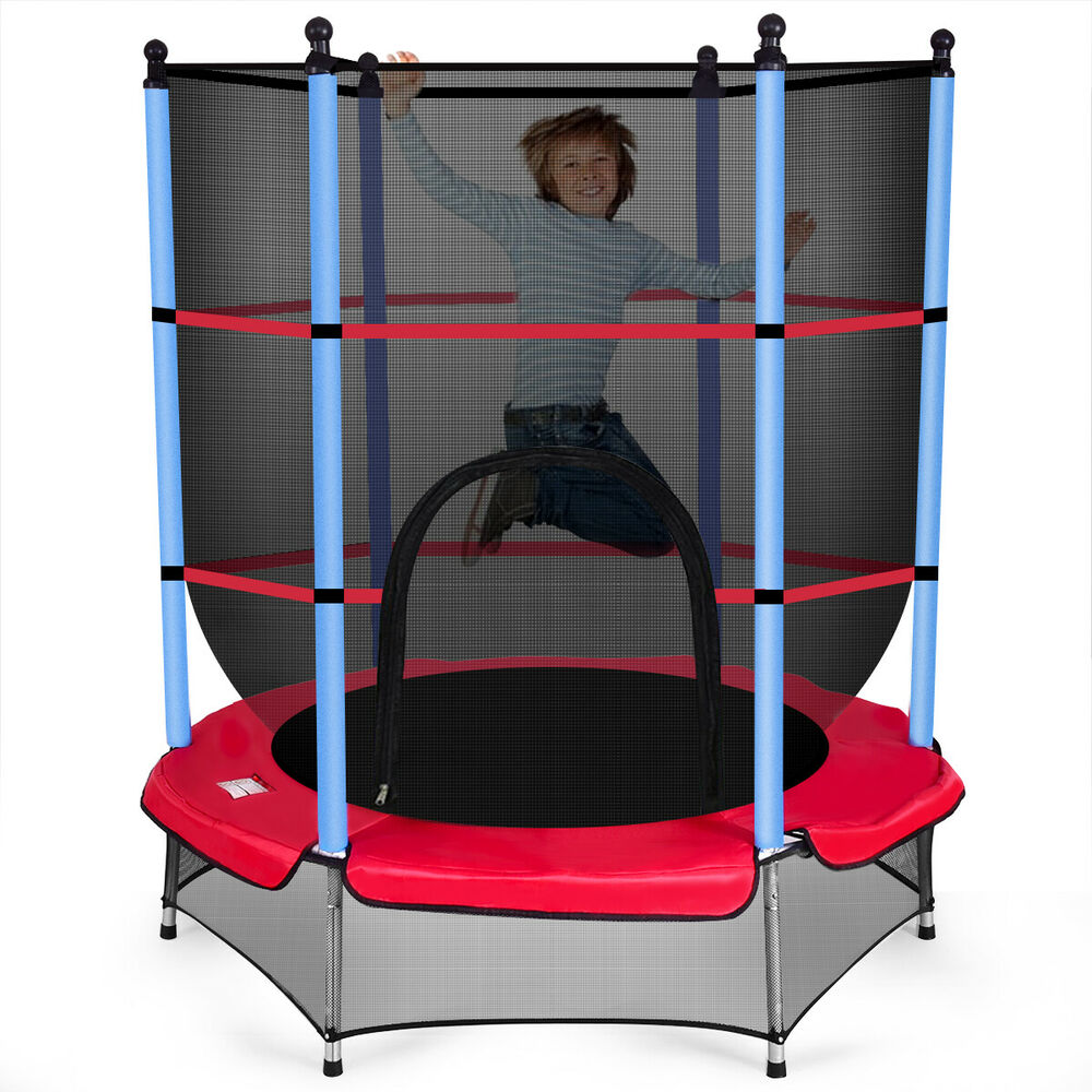 """Safest Top Rated Trampolines: Youth Jumping Round Trampoline 55"""" Exercise W/ Safety Pad"""