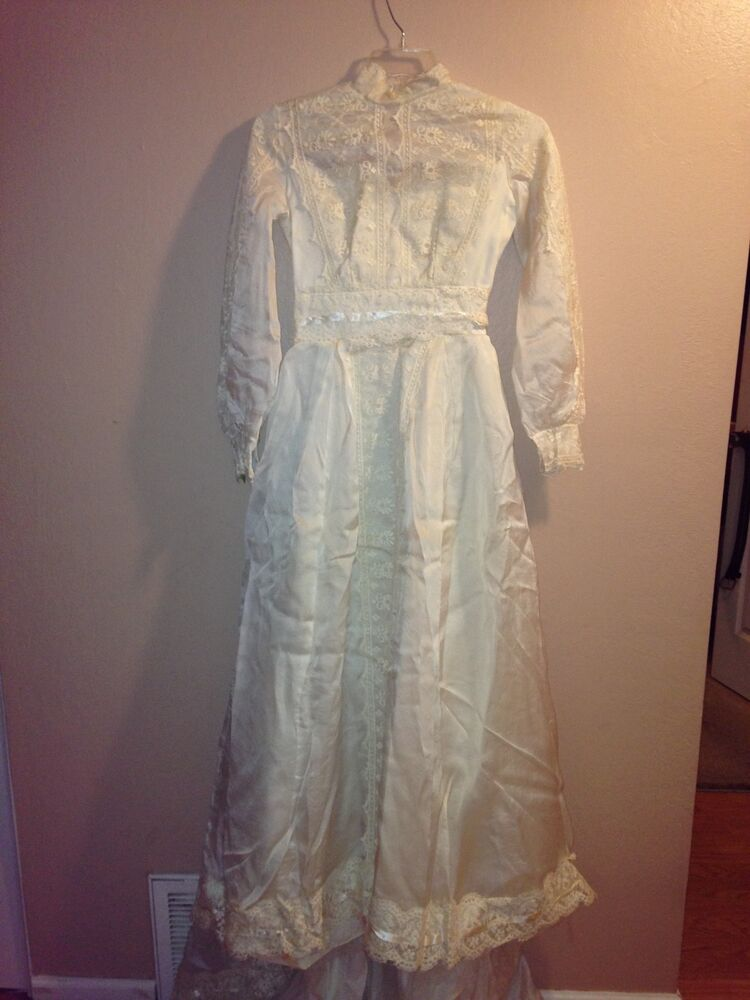Vintage 1974 wedding dress ebay for Wedding dress in ebay