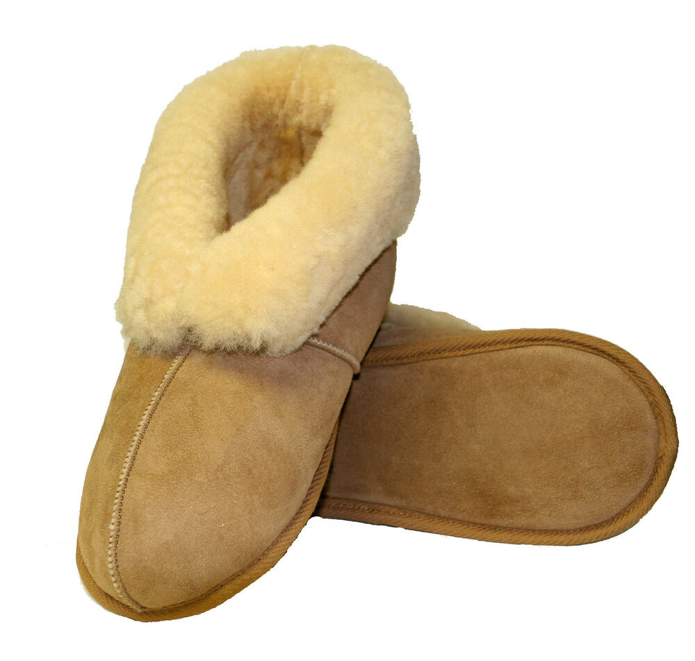 closed backed softsole sheepskin womens slippers small