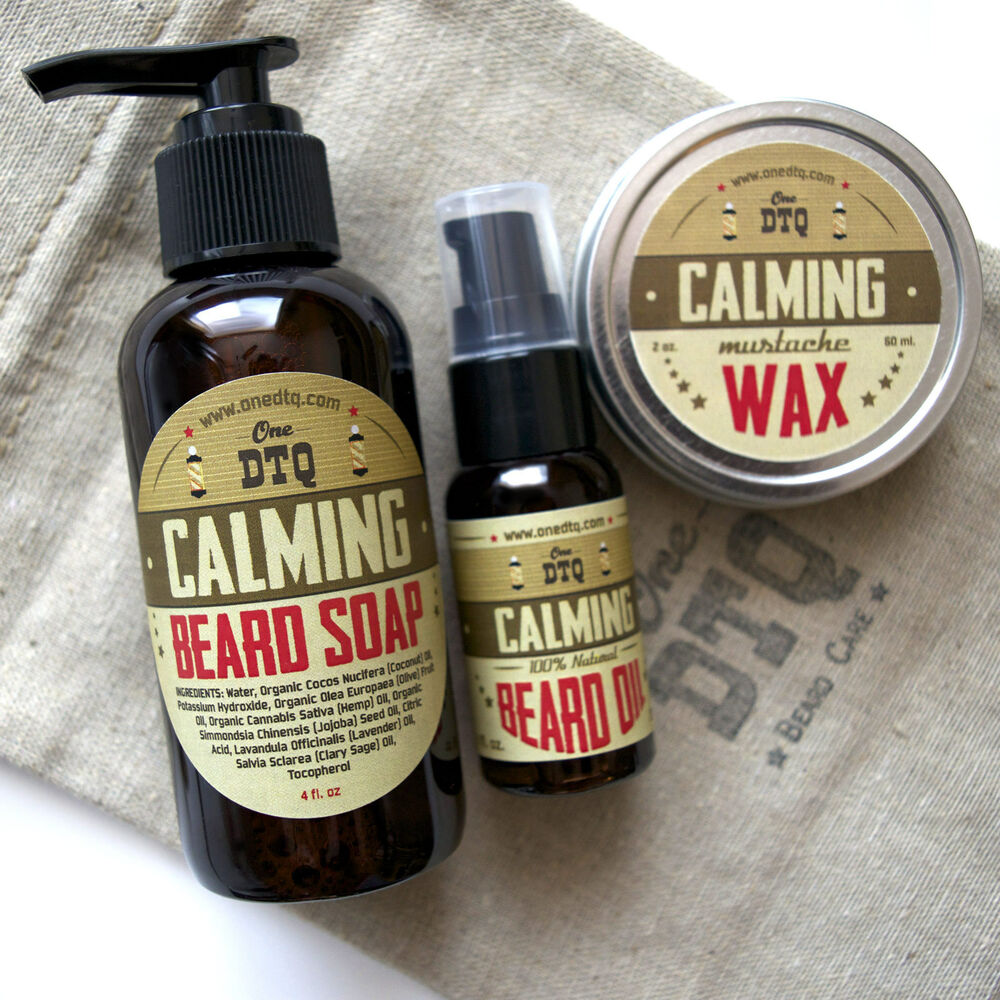 calming beard care kit beard soap beard oil mustache. Black Bedroom Furniture Sets. Home Design Ideas