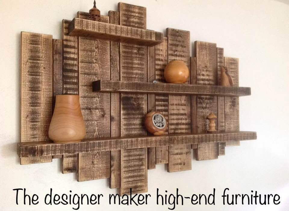 SALE ** LARGE WALL MOUNTED RUSTIC FLOATING SHELF SOLID ...