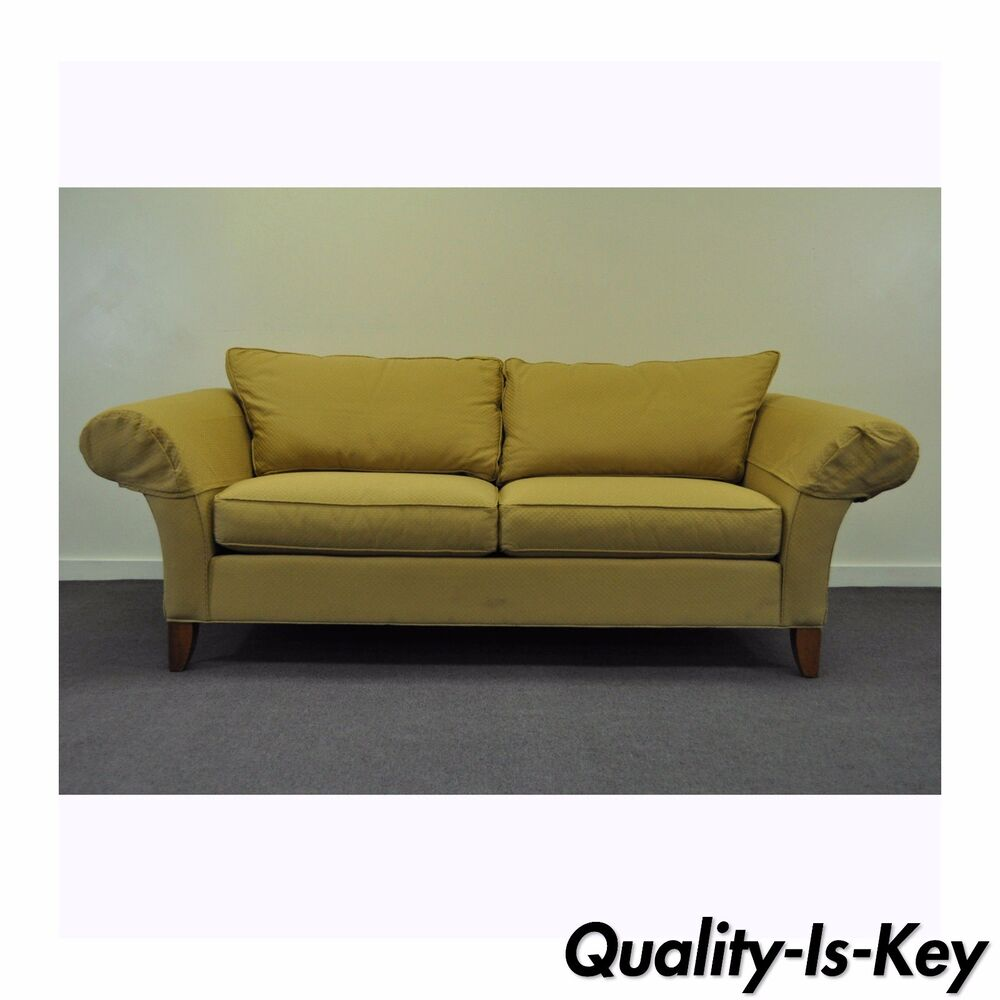 Contemporary ethan allen usa traditional style rolled arm for Traditional couches