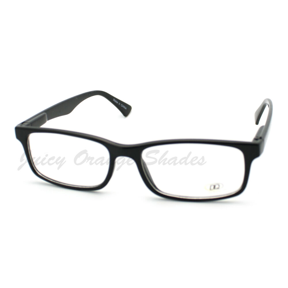 Black Frame Glasses Clear Lens : Black Clear Lens Eyeglasses Simple Classic Rectangular ...