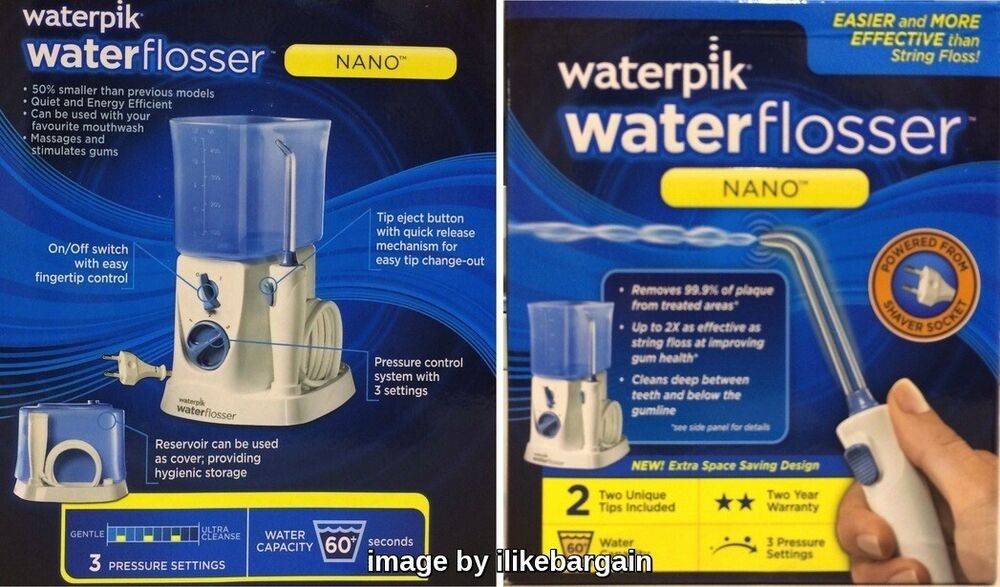 waterpik wp250 nano water flosser dental floss flossing irrigator water jet n. Black Bedroom Furniture Sets. Home Design Ideas