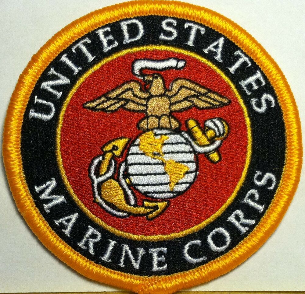 United States Marine Corps Military Iron On Patch Shoulder ...