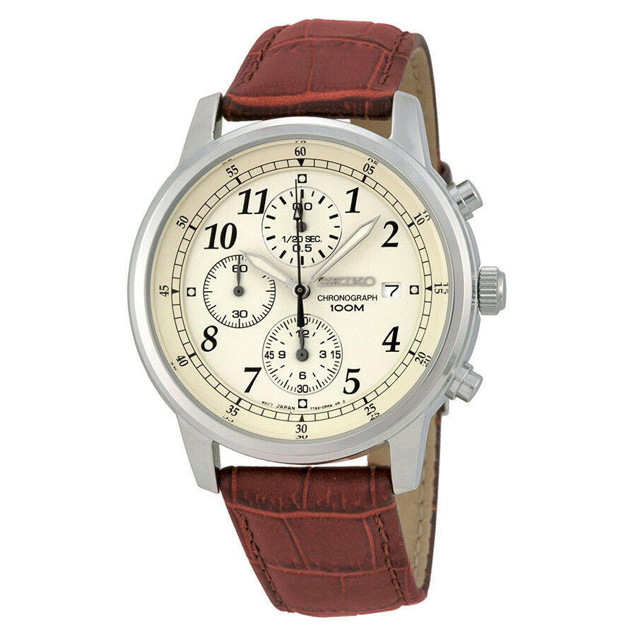 Seiko stainless steel chronograph mens watch sndc31 4954628133045 ebay for Watches on ebay