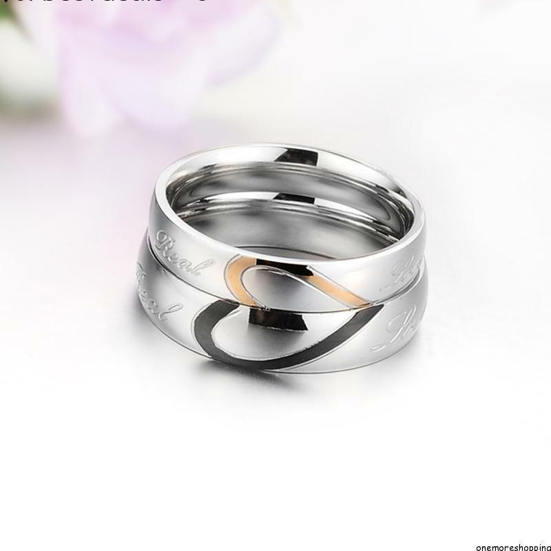 his and stainless steel ring f