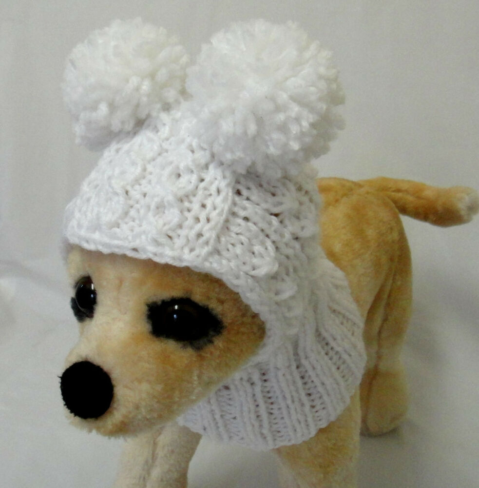 Pet Clothes Apparel Handmade Knit Hat Hoodie Snow Hat For