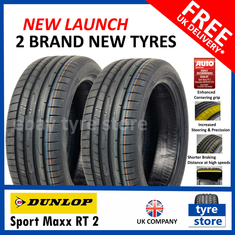 2x new 225 40 18 dunlop sport maxx rt 2 92y xl 225 40r18 2254018 2 tyres ebay. Black Bedroom Furniture Sets. Home Design Ideas