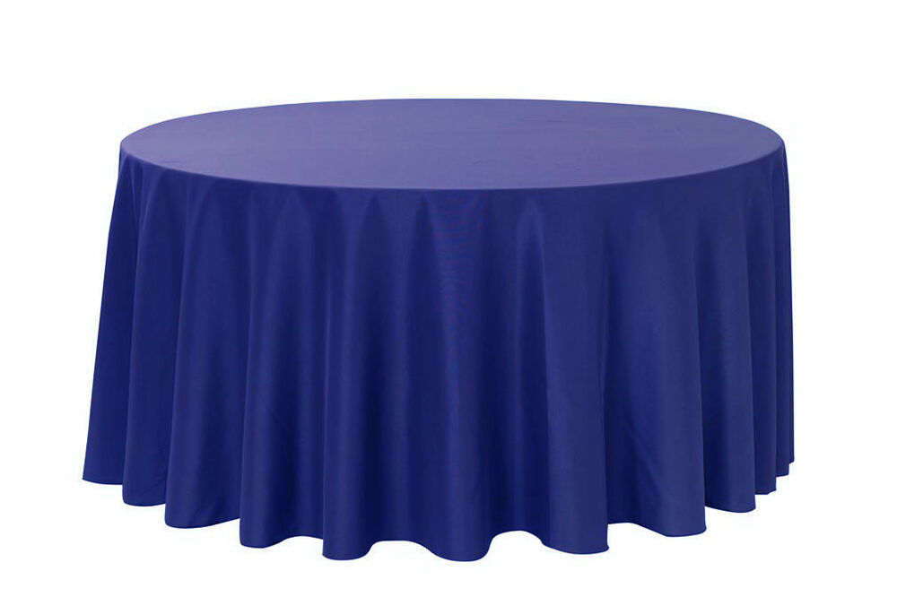 120 inch round polyester tablecloths royal blue ebay