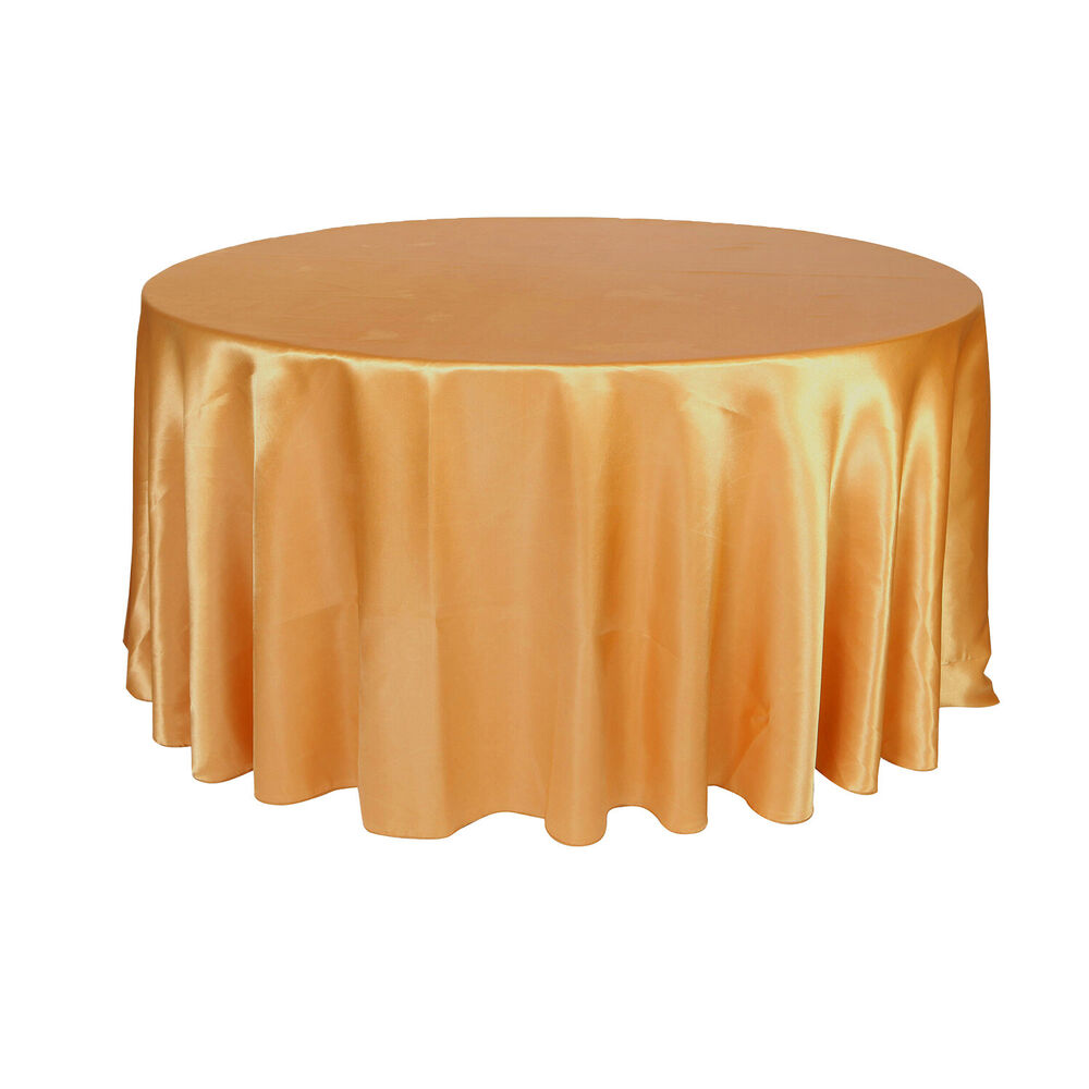 120 inch round satin tablecloths gold ebay for 120 inch round table cloths