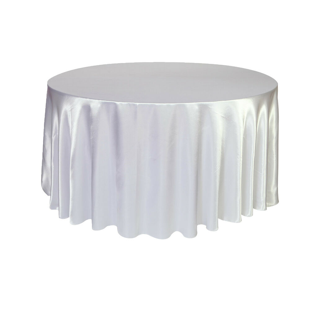 120 inch round satin tablecloths white ebay for 120 table cloths
