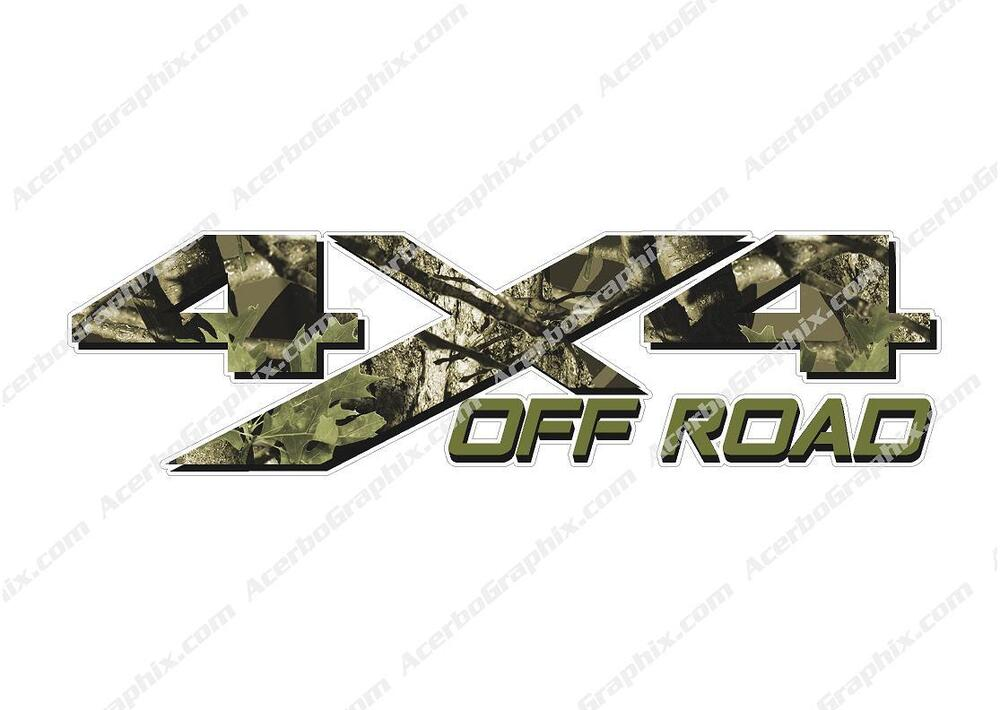 4x4 Off Road Camouflage Tree Camo Hunting Truck Decal