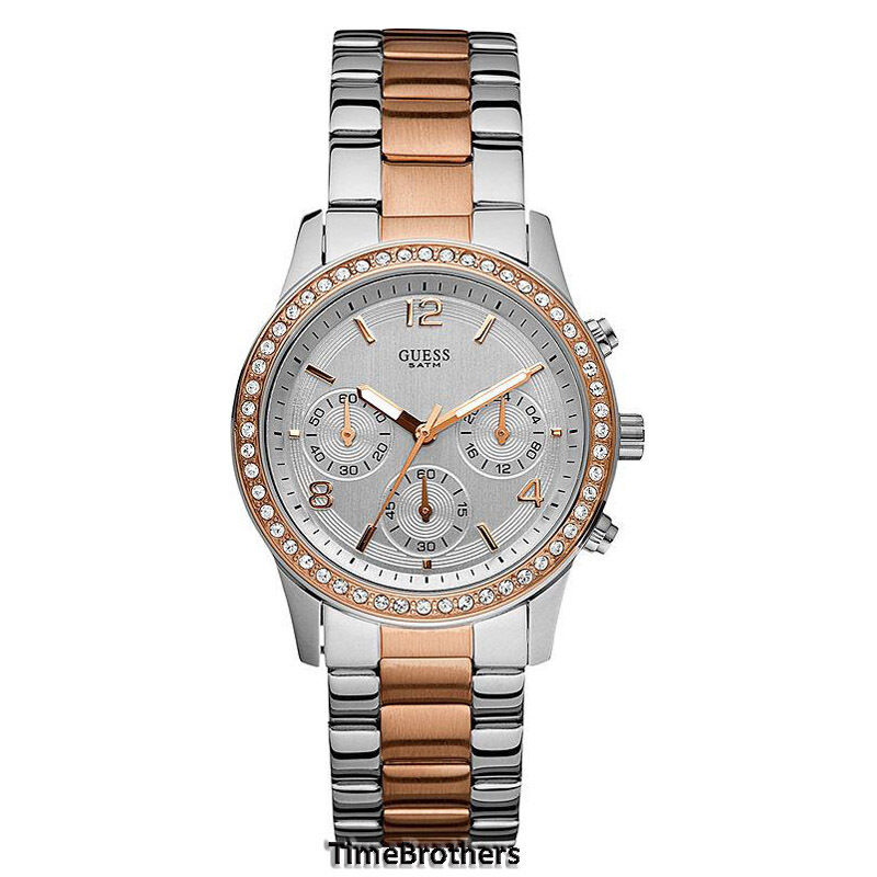 New guess watch for women chronograph rose gold crystal u0122l1 w0122l ebay for Watches guess