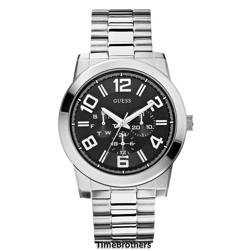 NEW GUESS WATCH for Men * Multi-Function * Silver Tone ...