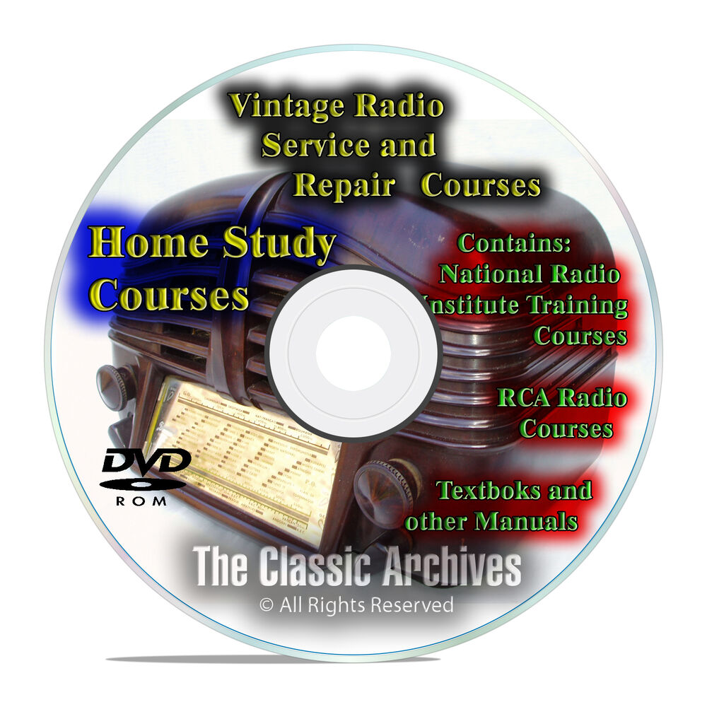 Antique radio servicemans repair home study course for Classic house cd