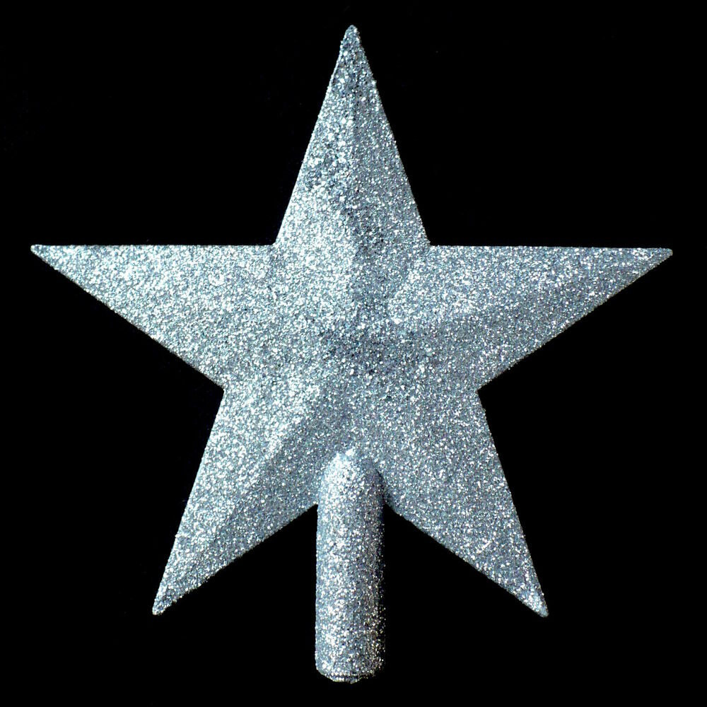 SILVER CHRISTMAS STAR TREE TOPPER / PERFECT SIZE FOR ...