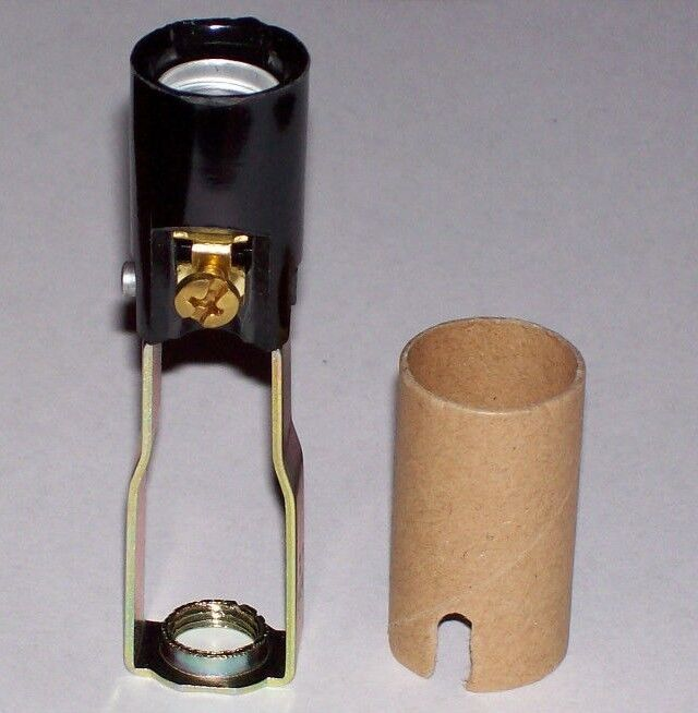 tall candelabra socket with hickey lamp part new 30708j ebay. Black Bedroom Furniture Sets. Home Design Ideas