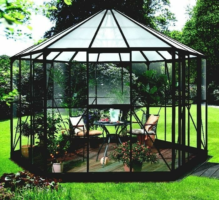 pergart vitavia glas pavillion gew chshaus hera 9000 in schwarz mit glas ebay. Black Bedroom Furniture Sets. Home Design Ideas